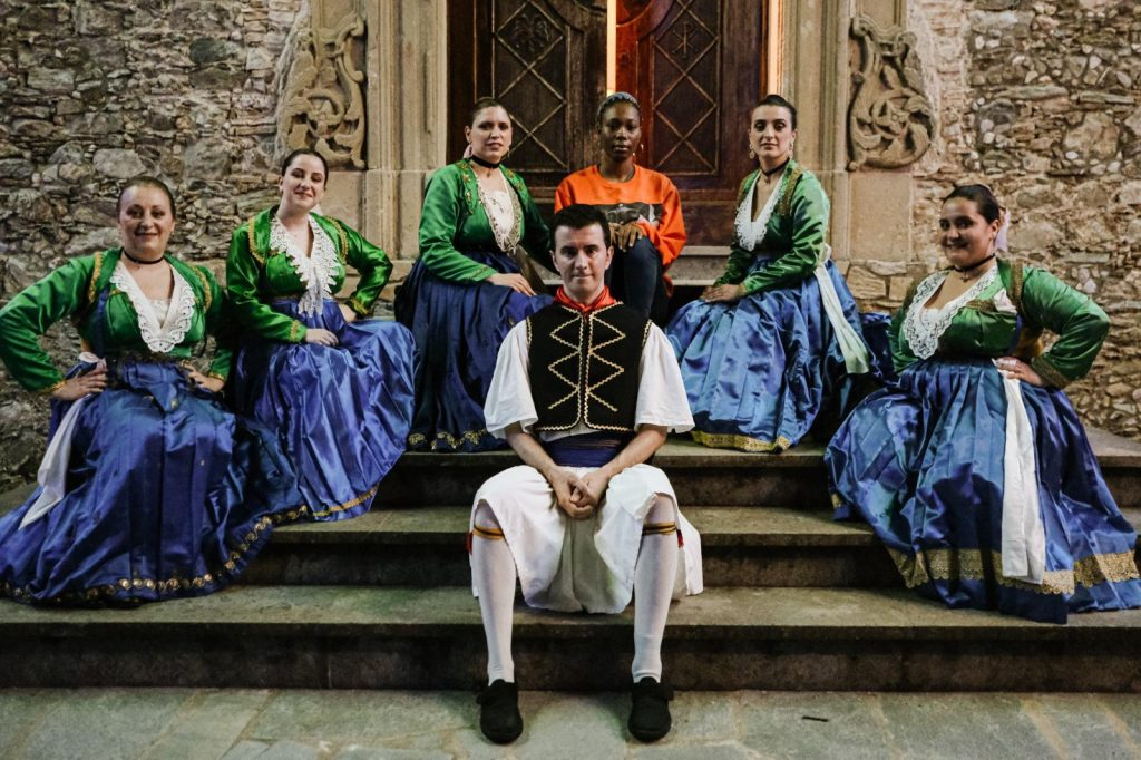 Personaggi del corto di Imbrogno in costume tradizionale di San Benedetto Ullano
